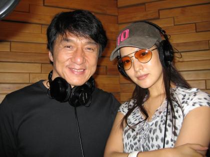 Джеки Чан и Ким Хе Сун