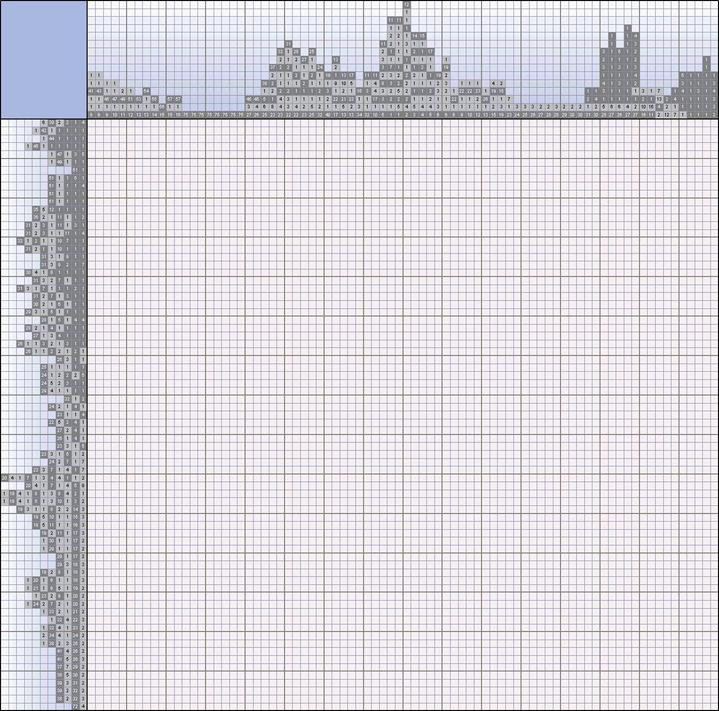 картинки черно белые японские кроссворды